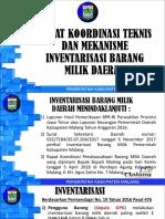 Materi Rakor Terkait Teknis Dan Mekanisme Inventarisasi Bmd
