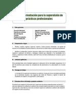 Guía de Orientación Para La Supervisión de Prácticas Profesionales