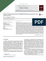 Study on Damping Properties of HVBR_EVM Blends Prepared by in Situ Polymerization