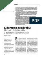 2001 Collins Jim - Liderazgo de Nivel 5 - El Triunfo de La Humildad y de La Ferrea Determinacion