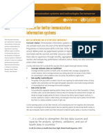 Better Immunization Information Systems