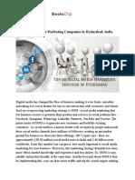 Top 10 Social Media Marketing Services in Hyderabad