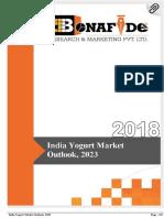 India Yogurt Market Outlook, 2023