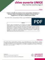 Analyse contrastée des attentes et des représentations d'étudiants en formation initiale