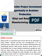 Profitable Project Investment Opportunity in Acetates Production