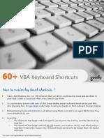 60 Excel VBA Keyboard Shortcuts