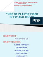 USE OF PLASTIC FIBRE IN FLY ASH BRICK PPT.pptx