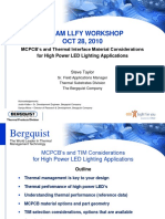 Bergquist MCPCBs and Thermal Interface Material Considerations for High Power LED Lighting Applications SanDiego Oct.2010