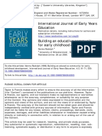 International Journal of Early Years Education Volume 4 Issue 3 1996 [Doi 10.1080%2F0966976960040305] Rudolph, Norma -- Building an Educative Community for Early Childhood Development