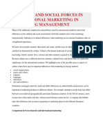 Cultural and Social Forces in International Marketing in Marketing Management