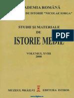 Studii Si Materiale de Istorie Medie 18 (2000)