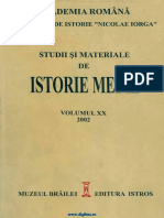 Studii Si Materiale de Istorie Medie 20 (2002)