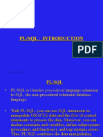 Plsql Introduction