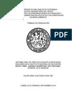 Universidad de Guatemala Practica de Observacion