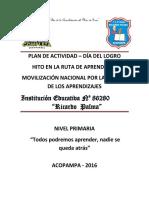 Actividad Del Dia Del Logro 2016 - Primaria