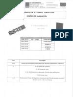 Calendario de exames e avaliacións de Setembro 2018