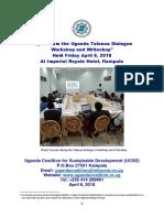 Final Report for UCSD Talanoa Dialogue Workshop & Writeshop Held April 6, 2018 in Kampala (Uganda)
