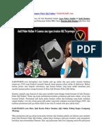 Judi Domino Poker QQ Online | SAKONGKIU.com