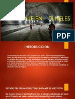 EXPOSICION TUNELES DRENAJE