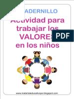 Actividad Para Trabajar Los VALORES en Los Niños