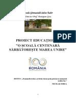 Proiect 100 de Ani UNIREA