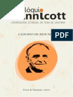 Caderno de Resumos II Colóquio Winnicott Da UEFS