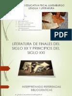 Literatura de Finales Del Siglo Xx y Principios21515