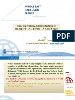 FIDIC Lecture - Joint Operation of Multiple Fidic Forms - A Case Study