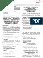 Ley que declara de interés público la incorporación de contenidos curriculares en el currículo nacional de la Educación Básica