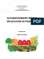 Accomplishment Report Gulayan