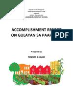 Accomplishment Report Gulayan