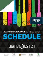 Elkhart Jazz Festival Schedule 2018 Updated