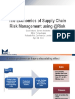 The Economics of Supply Chain Risk Management Using @Risk
