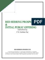 Red Herring Prospectus & Initial Public Offering
