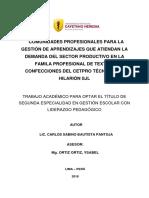 Plan de Acción Carlos Bautista Pantoja