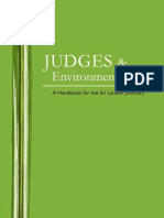 Judges Environmental Law a Handbook for the Sri Lankan Judiciary 2009