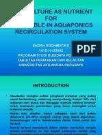 Aquaculture as Nutrient For