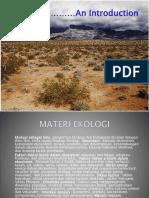 1. Ekologi Sbg Ilmu