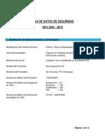 HDS Paños y Telas Contaminadas Con Aceites e Hidrocarburos