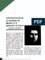 Luporini - La metodología del marxismo en el pensamiento de Gramsci - Pensamiento crítico n2 (1967).pdf