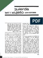 Rozitchner - La izquierda sin sujeto Pensamiento crítico n12 (1968).pdf