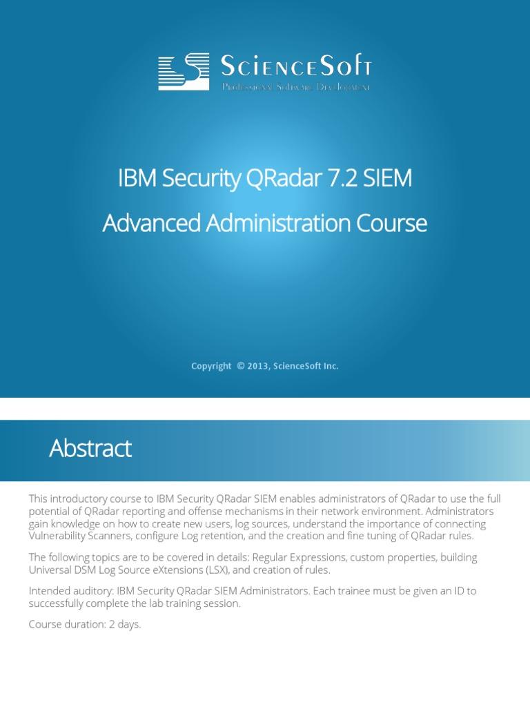 297133467-QRadar-Administrador-Avanzado pdf | Regular
