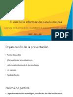 Presentación La Lectura Institucional de Los Resultados (1)