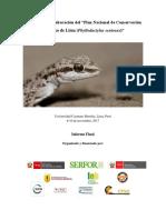 """Taller para la Elaboración del """"Plan Nacional de Conservación del gecko de Lima (Phyllodactylus sentosus)"""""""