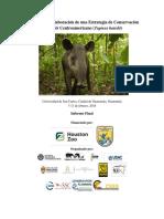 Taller para la Elaboración de una Estrategia de Conservación del Tapir Centroamericano (Tapirus bairdii)