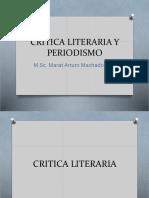 Crítica literaria y periodismo
