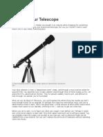Tune Up Your Telescope