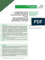 Anemia Megaloblstica Infantilasociada a Infeccin Porhelicobacter Pylori Reporte Deun Caso