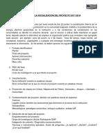 Pautas de La Socializacion Del Proyecto 2017-2018