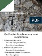 Sedimentos terrigenos Ambientes sedimentarios